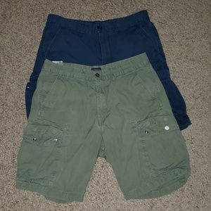 Levi's Cargo Short Olive Green and Dark Blue 32SZ
